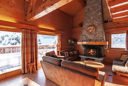 Location au ski Chalet 7 pièces 12 personnes - Chalet le Grillon - Méribel - Séjour