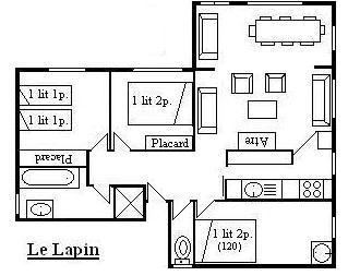 Location au ski Appartement 4 pièces 5 personnes (type J) - Chalet le Lapin - Méribel