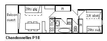 Location au ski Appartement 2 pièces 5 personnes (P18) - Résidence les Chandonnelles II - Méribel