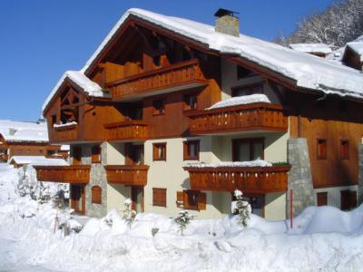 Location au ski Résidence les Fermes de Méribel Bat I - Méribel - Extérieur hiver