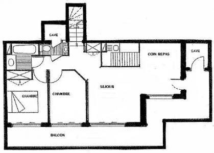 Location au ski Appartement 3 pièces 6 personnes (01) - Residence Tsanteleina - Méribel - Plan