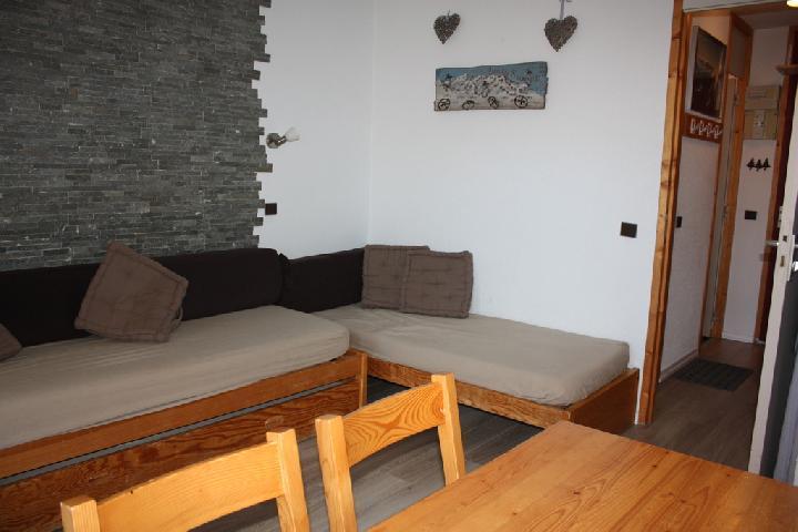 Location au ski Studio 3 personnes (2) - La Residence Le De 2 - Montchavin - La Plagne - Canapé