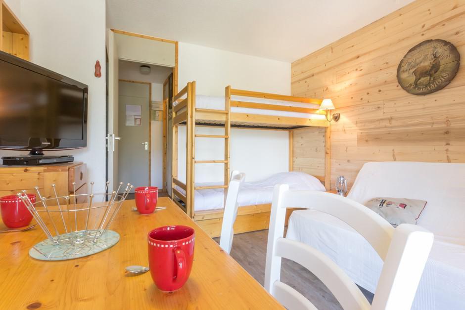 Location au ski Studio 3 personnes (5) - La Residence Le De 2 - Montchavin - La Plagne - Kitchenette