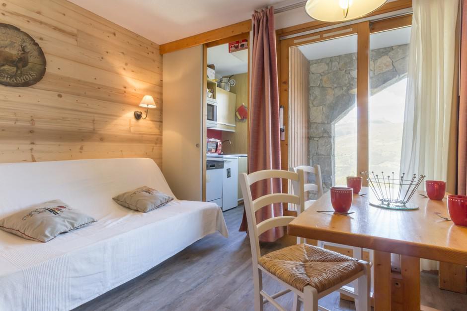 Location au ski Studio 3 personnes (5) - La Residence Le De 2 - Montchavin - La Plagne - Séjour