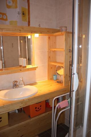 Location au ski Studio 5 personnes (1) - La Residence Le Pommeret - Montchavin - La Plagne - Salle d'eau