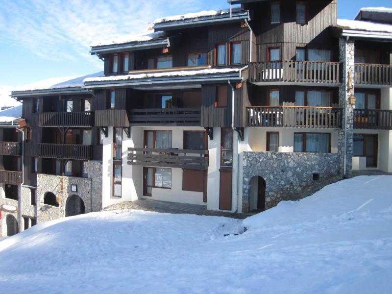 Vakantie in de bergen La Résidence des Pentes - Montchavin La Plagne - Buiten winter