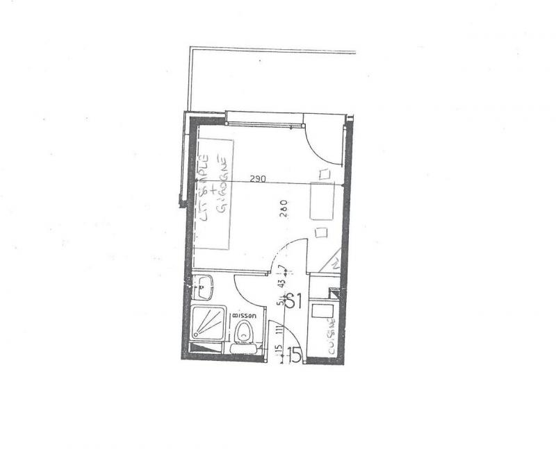 Location au ski Studio 2 personnes (015) - La Résidence Equerre - Montchavin La Plagne - Plan