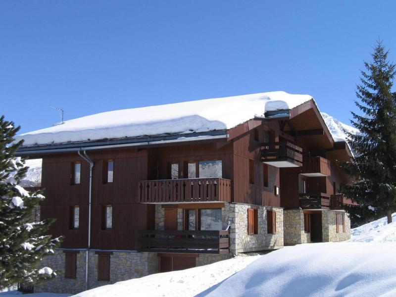 Location au ski Studio 4 personnes (016) - La Résidence la Lanterne - Montchavin La Plagne - Extérieur hiver