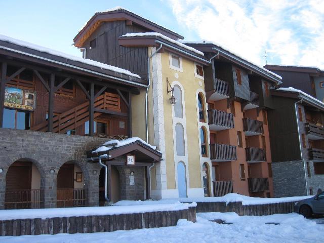 Holiday in mountain resort La Résidence la Traverse - Montchavin - La Plagne - Winter outside