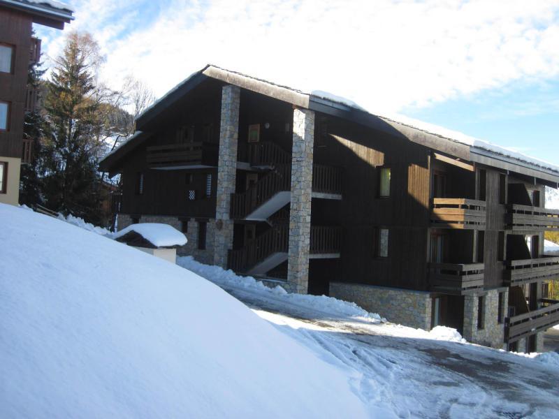 Vakantie in de bergen La Résidence le Damier - Montchavin La Plagne - Buiten winter