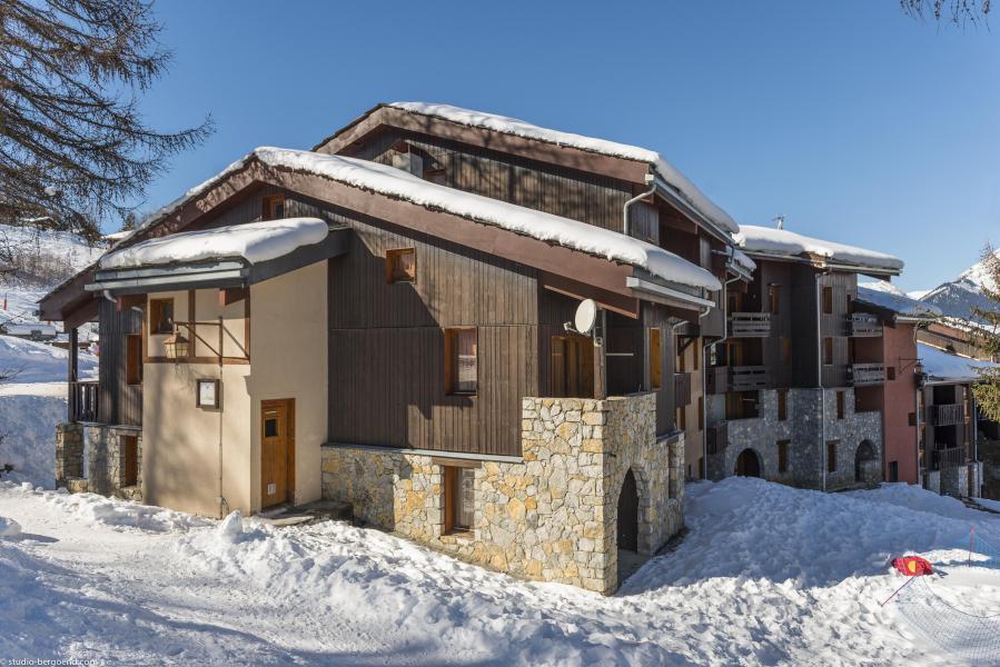 Ski verhuur Appartement 2 kamers 4 personen (004) - La Résidence les Pentes - Montchavin La Plagne - Buiten winter