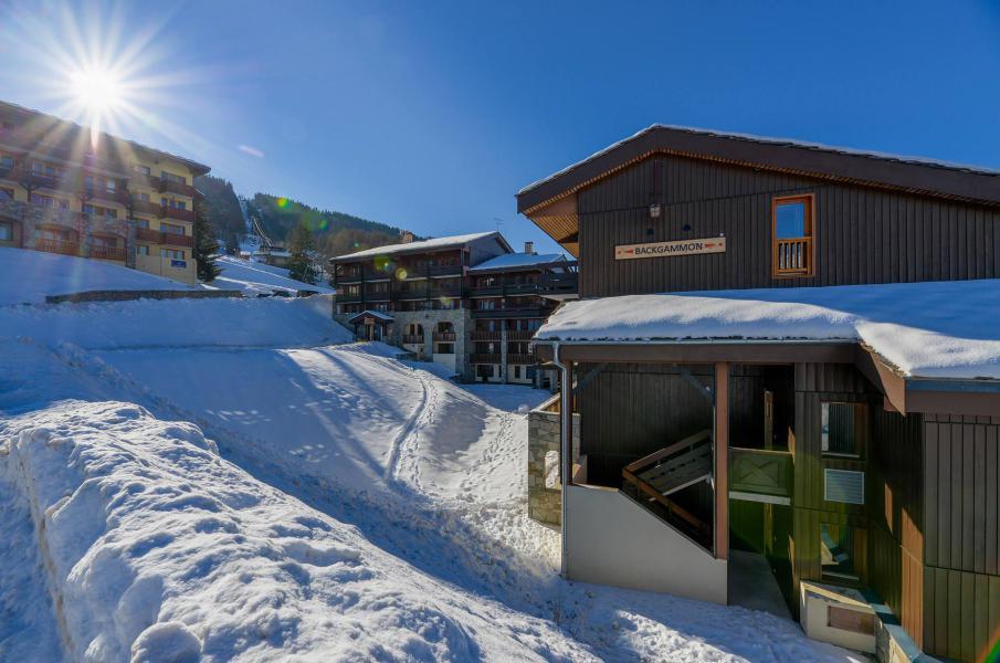 Location au ski Residence Backgammon - Montchavin - La Plagne - Extérieur hiver