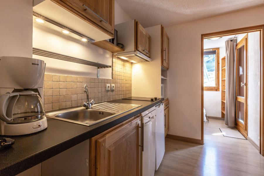 Location au ski Studio cabine 5 personnes (039) - Résidence la Clé - Montchavin La Plagne - Cuisine ouverte