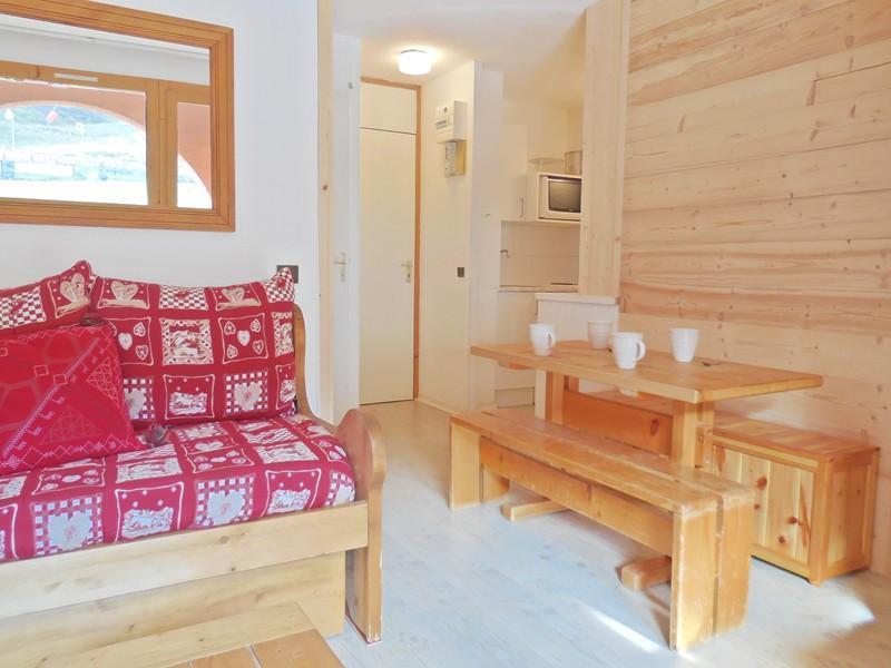 Ski verhuur Appartement 2 kamers bergnis 4 personen (033) - Résidence la Traverse - Montchavin La Plagne - Woonkamer