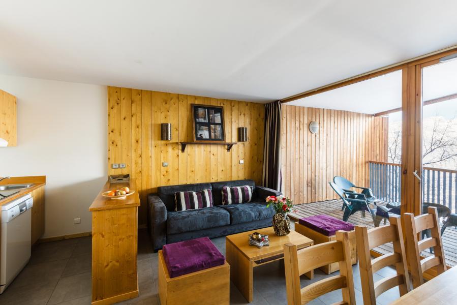 Location au ski Residence Lagrange Les 3 Glaciers - Montchavin - La Plagne - Coin séjour