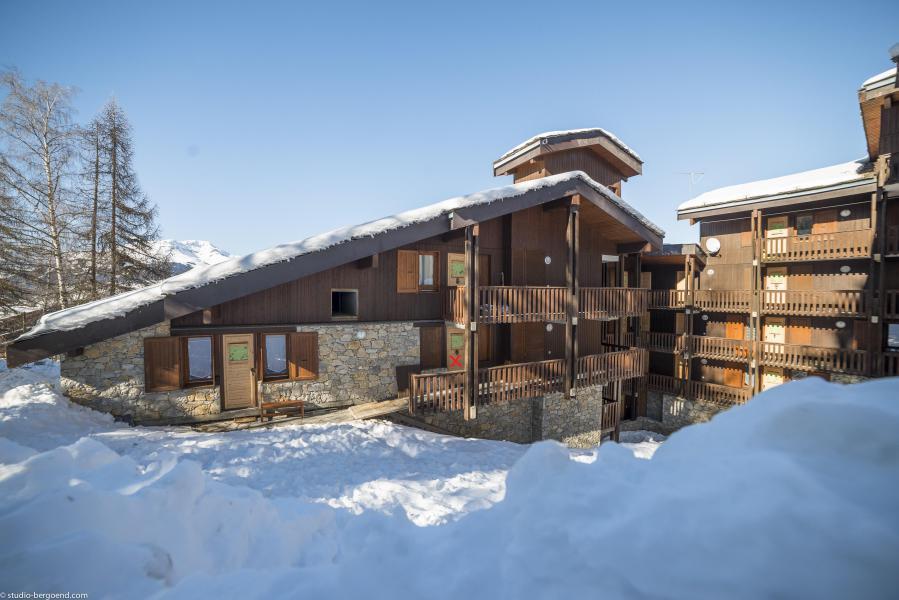 Vacances en montagne Appartement 3 pièces 5 personnes (012) - Résidence le Damier - Montchavin La Plagne - Extérieur hiver