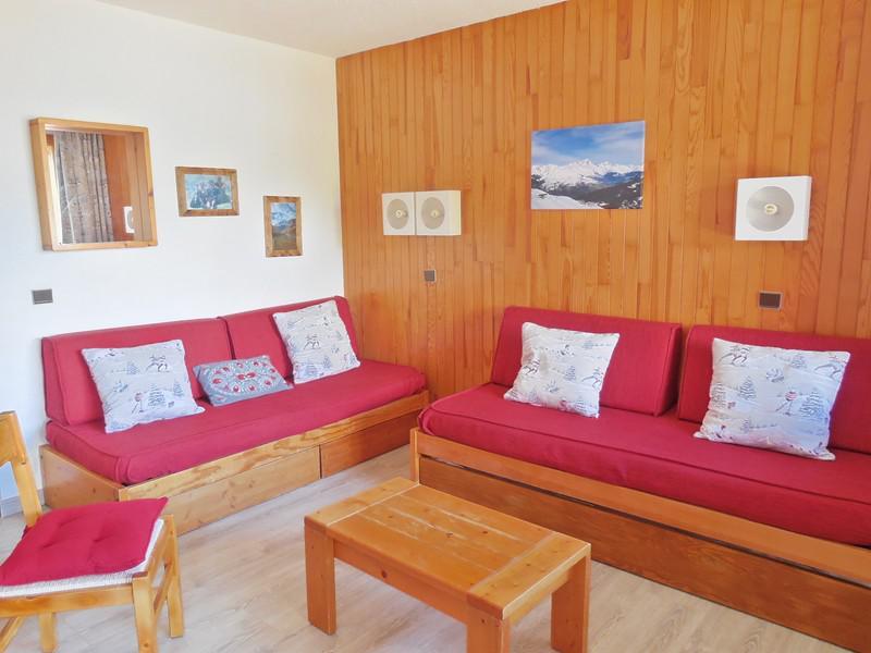 Ski verhuur Appartement 2 kamers 6 personen (006) - Résidence le Dé 2 - Montchavin La Plagne - Woonkamer