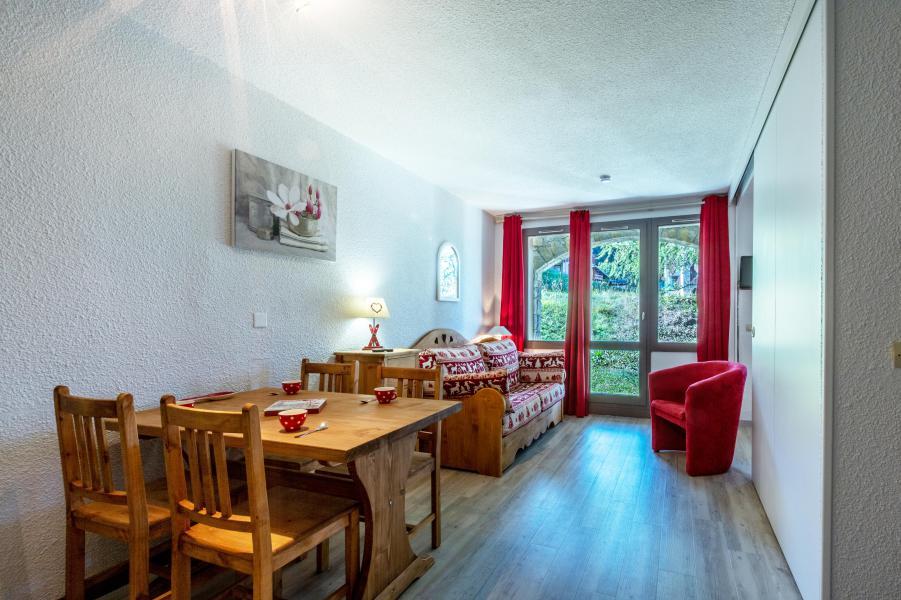 Ski verhuur Appartement 2 kamers 4 personen (008) - Résidence le Dé 3 - Montchavin La Plagne - Eetkamer