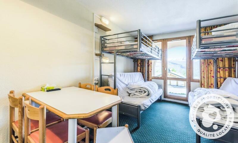 Vacances en montagne Studio 5 personnes (Confort 27m²) - Résidence le Hameau du Sauget - Maeva Home - Montchavin La Plagne - Extérieur hiver