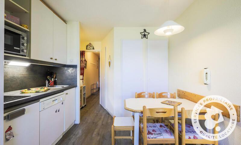 Vacances en montagne Studio 4 personnes (Confort 28m²) - Résidence le Hameau du Sauget - Maeva Home - Montchavin La Plagne - Extérieur hiver