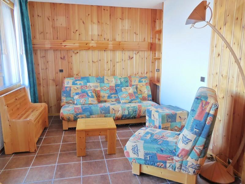 Ski verhuur Appartement duplex 3 kamers 6 personen (030) - Résidence le Zig Zag - Montchavin La Plagne - Woonkamer