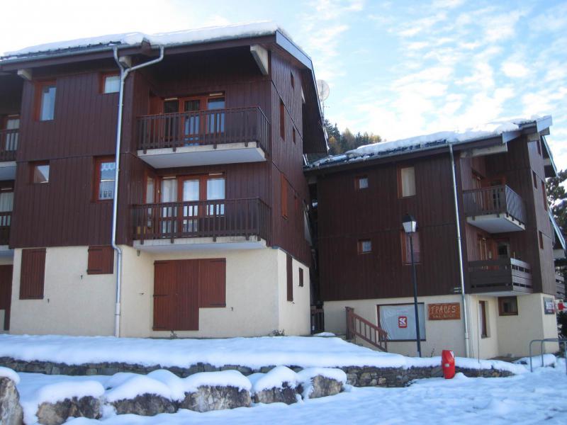 Vakantie in de bergen Résidence les Avrières - Montchavin La Plagne - Buiten winter