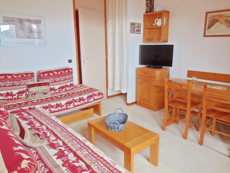 Location au ski Appartement 2 pièces 4 personnes (034) - Résidence Pendule - Montchavin La Plagne - Canapé