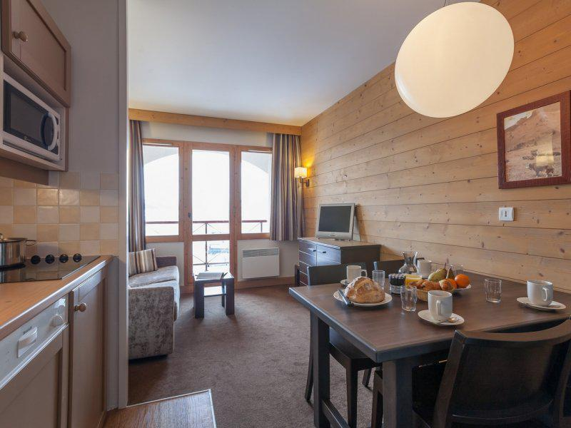 Аренда на лыжном курорте Квартира студия для 4 чел. - Résidence Pierre & Vacances Marelle & Rami - Montchavin La Plagne