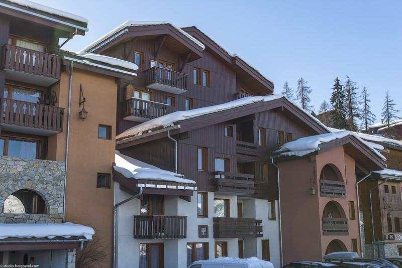Location au ski Studio 4 personnes (009) - Résidence Trompe l'Oeil - Montchavin La Plagne - Extérieur hiver