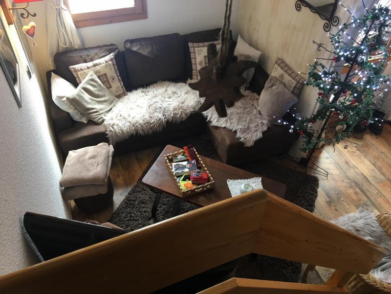 Ski verhuur Appartement duplex 4 kamers 9 personen (052) - Résidence Trompe l'Oeil - Montchavin La Plagne - Woonkamer