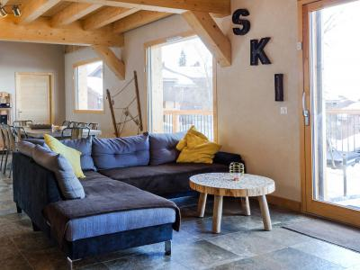 Rent in ski resort Chalet Ski Dream - Montchavin La Plagne - Living room