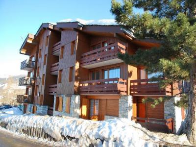 Location au ski Studio 2 personnes (015) - La Résidence Equerre - Montchavin La Plagne - Extérieur hiver