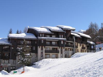 Location au ski Studio 4 personnes (006) - La Résidence les Pentes - Montchavin La Plagne - Extérieur hiver