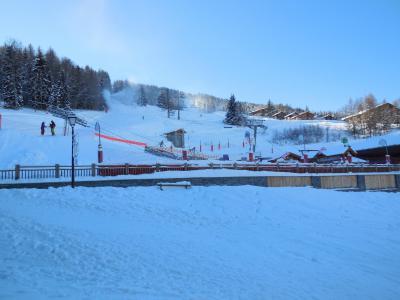 Location au ski Studio 2 personnes (019) - La Résidence les Pentes - Montchavin La Plagne - Extérieur hiver