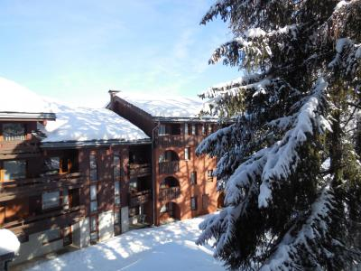 Location au ski Studio 4 personnes (027) - La Résidence les Pentes - Montchavin La Plagne - Extérieur hiver