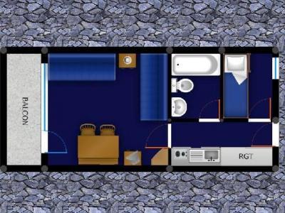 Location au ski Studio 4 personnes (027) - Résidence la Boussole - Montchavin - La Plagne - Plan
