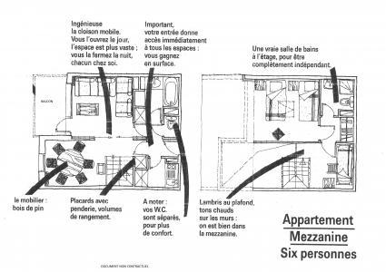 Location au ski Appartement 3 pièces 6 personnes (046) - Résidence la Traverse - Montchavin La Plagne - Plan