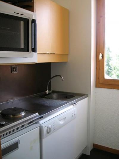 Location au ski Studio 3 personnes (009) - Residence Le De 1 - Montchavin - La Plagne - Kitchenette