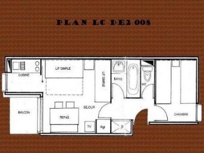 Location au ski Appartement 2 pièces 5 personnes (629) - Residence Le De 2 - Montchavin - La Plagne - Plan
