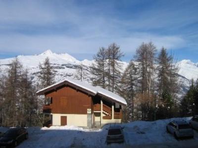Location au ski Studio coin montagne 4 personnes (202) - Résidence le Dé 3 - Montchavin La Plagne - Extérieur hiver