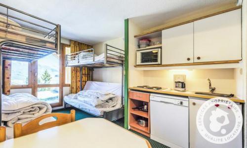 Location au ski Studio 5 personnes (Confort 27m²) - Résidence le Hameau du Sauget - Maeva Home - Montchavin La Plagne - Extérieur hiver