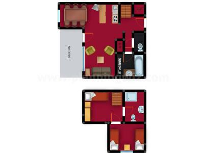 Location au ski Appartement duplex 3 pièces 6 personnes (036) - Résidence le Zig Zag - Montchavin La Plagne