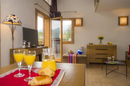 Location au ski Residence Les Chalets De Wengen - Montchavin - La Plagne - Coin repas