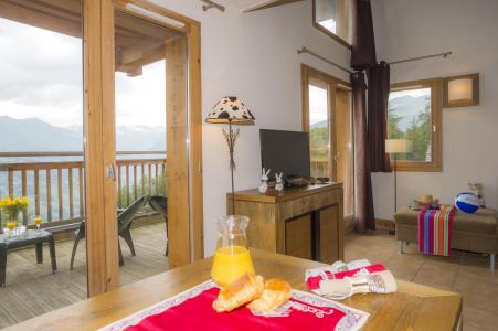 Location au ski Residence Les Chalets De Wengen - Montchavin - La Plagne - Séjour