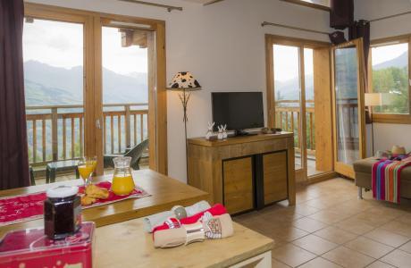 Location au ski Residence Les Chalets De Wengen - Montchavin - La Plagne - Tv