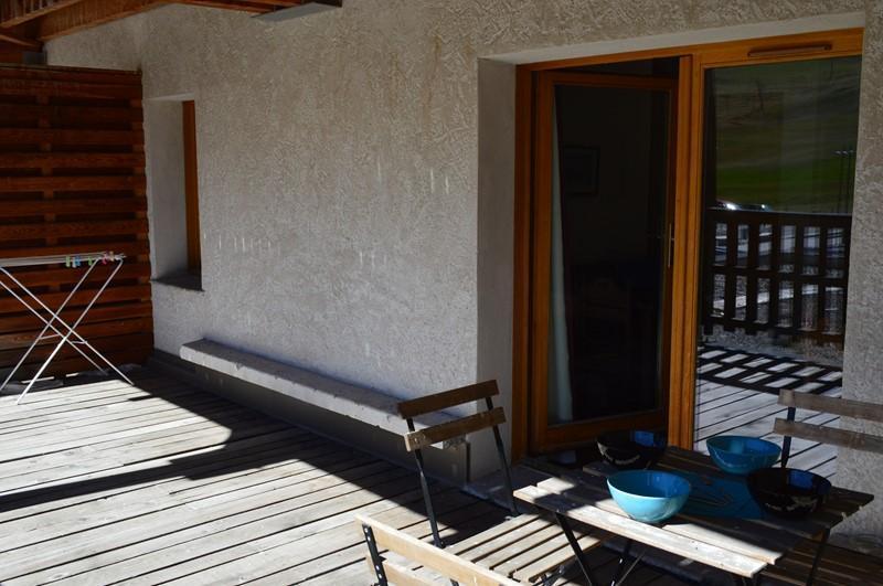 Location au ski Appartement 2 pièces 4 personnes (NG 9) - La Residence Neige Et Golf - Montgenèvre - Terrasse