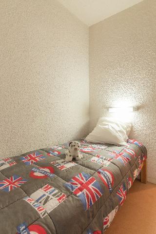 Location au ski Appartement 2 pièces coin montagne 6 personnes (DURIEZ) - La Residence La Loubatiere - Montgenèvre - Lit simple