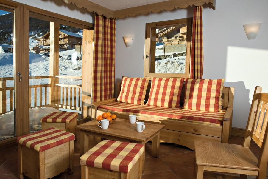 Alquiler al esquí Résidence Club MMV le Hameau des Airelles - Montgenèvre - Salón