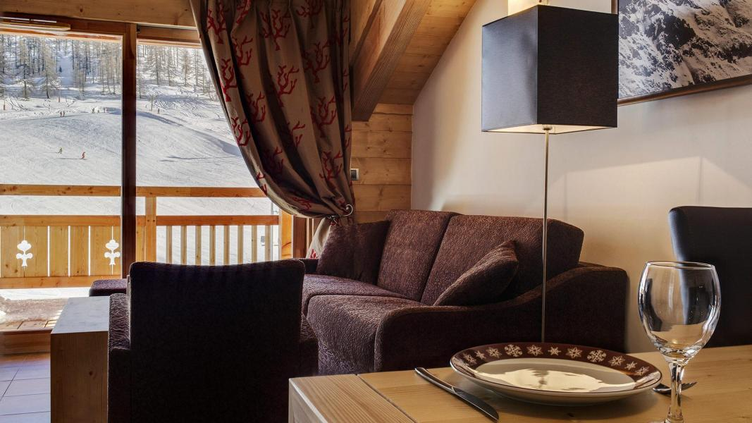 Location au ski Résidence le Napoléon - Montgenèvre - Canapé