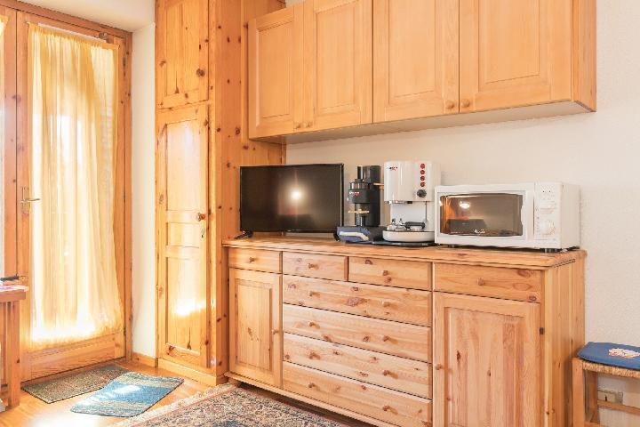 Location au ski Studio coin montagne 4 personnes (449) - Residence Les Toits Blancs - Montgenèvre - Micro-ondes